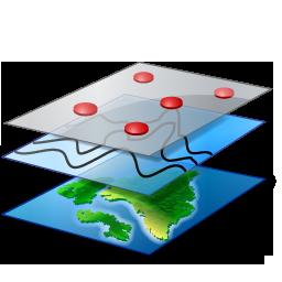 Yeni katmanlar ekleyebilir, düzenleyebilir, silebilir ve harita üzerinde gösterilecek katmanları belirleyebilirsiniz.