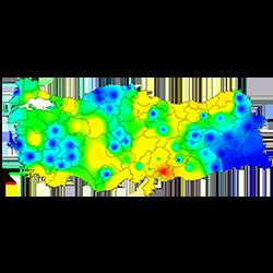 Verilerinize göre tematik haritalar oluşturabilirsiniz